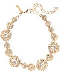 Oscar de la Renta - Pave Crystal Dome Necklace - Lyst