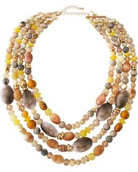 Lydell NYC - Four-strand Beaded Necklace - Lyst