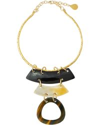 Devon Leigh - Layered Horn Collar Pendant Necklace - Lyst