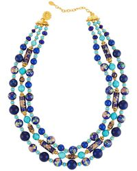 Jose & Maria Barrera - Triple-strand Beaded Necklace - Lyst