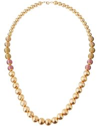 Lydell NYC - Long Graduating Acrylic Beaded Necklace - Lyst
