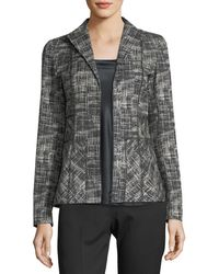 Lafayette 148 New York | Britta Urban Grid Zip-front Jacket | Lyst