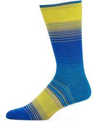 Bugatchi - Men's Engineered-stripe Socks - Lyst
