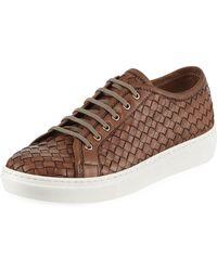 Sesto Meucci - Nudara Woven Leather Low-top Sneaker - Lyst