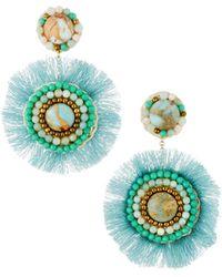 Panacea - Amazonite Fringe Circle Earrings - Lyst
