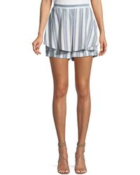 Tahari - Flora Striped Tiered Shorts - Lyst