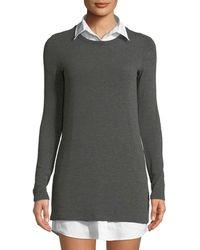 Bailey 44 - Cher Combo Sweater Tunic W/ Shirting - Lyst