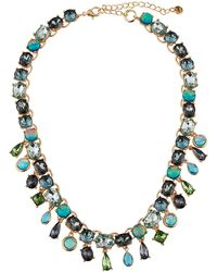 Lydell NYC - Mixed-stone Collar Necklace Green - Lyst
