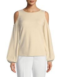 Tahari - Christopher Cold-shoulder Blouson-sleeve Sweater - Lyst
