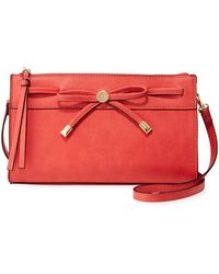 Neiman Marcus - Dulce Zip-top Crossbody Bag With Bow - Lyst