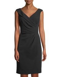 Tahari - Side-ruched Sleeveless Cocktail Dress - Lyst