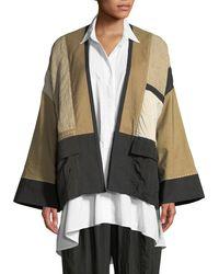 Urban Zen - Linen-blend Patchwork Kimono Jacket - Lyst