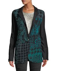 Free People - Sweater-front Jacquard One-button Blazer Jacket - Lyst