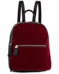 Neiman Marcus - Vera Velvet Two-tone Backpack - Lyst