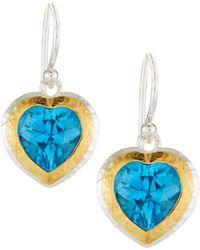 Gurhan - Romance Swiss Blue Topaz Heart Earrings - Lyst