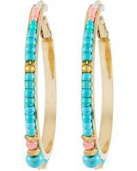 Nakamol - Turquoise Beaded Hoop Earrings - Lyst