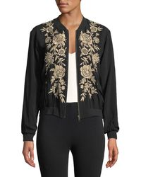 Johnny Was - Lennon Floral-embroidered Bomber Jacket - Lyst