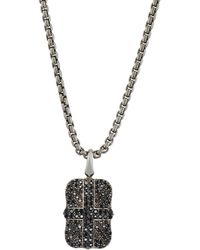 Stephen Webster - Men's Pave Black Sapphire Union Jack Dog Tag Necklace - Lyst