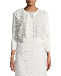 Karl Lagerfeld - Floral-applique Shrug Cardigan - Lyst