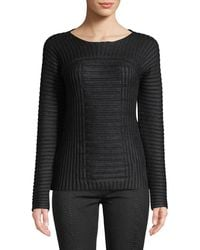 Leon Max - Textured Crew-neck Pullover Sweater - Lyst
