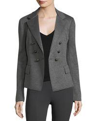 Donna Karan - Long-sleeve Skinny Double-breasted Jacket - Lyst