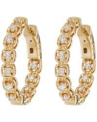 Neiman Marcus - 14k Diamond Illusion-set Hoop Earrings - Lyst