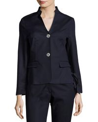 Nanette Nanette Lepore - Side Lace-up Two-button Jacket - Lyst