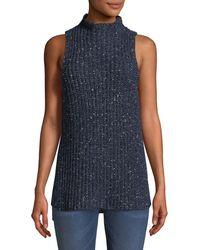 Kensie - Sleeveless Mock-neck Sweater - Lyst