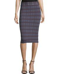 BCBGMAXAZRIA - Leger-plaid Knit Pencil Skirt - Lyst