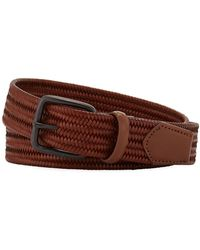 Neiman Marcus - Men's Mini-weave Leather Belt - Lyst