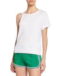 Pam & Gela - One-shoulder Strappy Casual Sweatshirt - Lyst