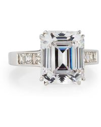Fantasia by Deserio - Asscher-cut Cz Ring - Lyst