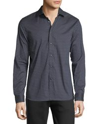 Karl Lagerfeld - Men's Dash Print Long-sleeve Shirt - Lyst
