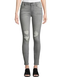 Parker Smith - Kam Mid-rise Skinny Jeans Gray - Lyst