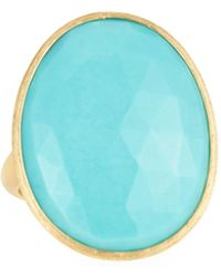 Marco Bicego - 18k Lunaria Turquoise Oval Ring - Lyst