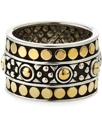 John Hardy - Jaisalmer Dot Gold/silver Band Ring - Lyst
