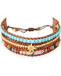 Chan Luu | Three-strand Pull-tie Bracelet In Turquoise | Lyst