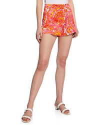Trina Turk - Corbin 2 Floral-print Shorts - Lyst