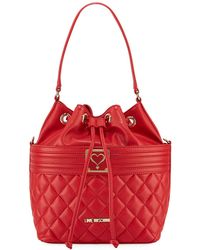 Love Moschino - Quilted Faux Napa Bucket Bag - Lyst