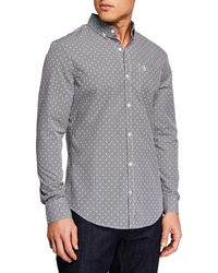 Original Penguin - Men' Long-sleeve Mini Gingham Sport Shirt - Lyst