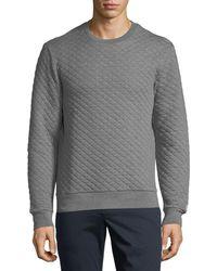 Original Penguin - Quilted Crewneck Sweater - Lyst