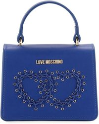 Love Moschino - Top-handle Bag With Grommet Heart - Lyst
