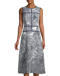 Lafayette 148 New York - Damaris Tropical-print Fil Coupé Dress - Lyst