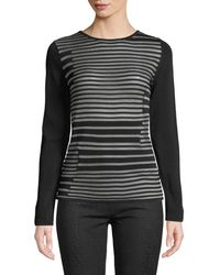 Leon Max - Crew-neck Long-sleeve Striped Top - Lyst
