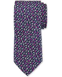 Duchamp - Floral Pattern Silk Tie - Lyst