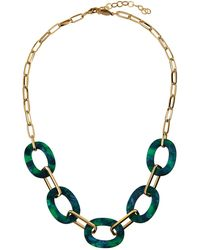 A.V. Max - Lucite Link Necklace In Green - Lyst