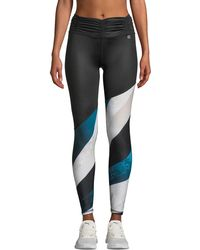 Body Language Sportswear - Callia Striped Ruched Leggings - Lyst