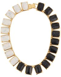 Lele Sadoughi | Gardenia Two-tone Link Necklace | Lyst