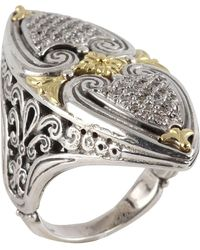 Konstantino - Asteri Marquise Ring W/ Pave White Diamonds - Lyst