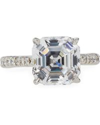 Fantasia by Deserio - Asscher-cut Cz Crystal Ring - Lyst